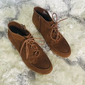 MIA Brown Suede Ankle Boots